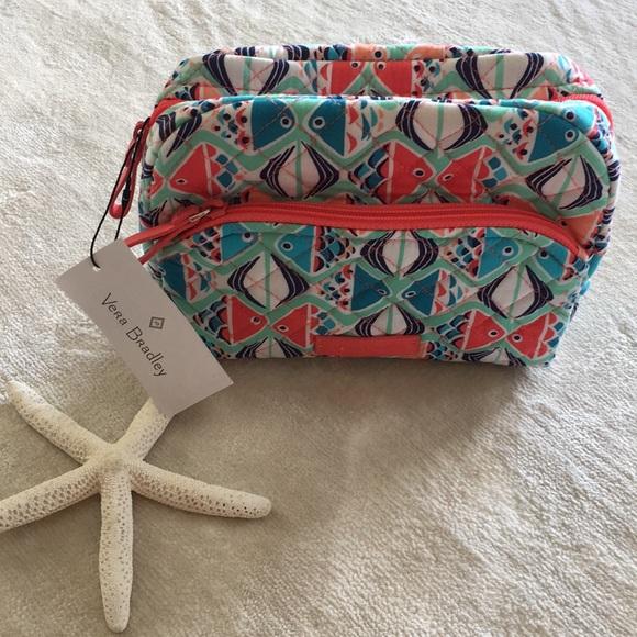 Vera Bradley Handbags - NWT Vera Bradley Medium Cosmetic in Go Fish Print
